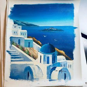 Painting from Santorini, Greece 🇬🇷